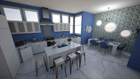 Blueberry kitchen - Kitchen  - by lgrdic