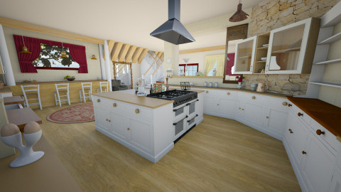 open kitchen - Country - Kitchen  - by donella