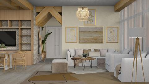 Wooden - Modern - Living room  - by NEVERQUITDESIGNIT