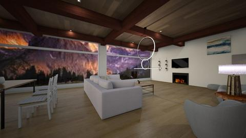Mountain House - Country - Living room  - by its lia