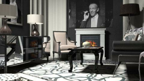 black-white hollywood - Eclectic - Living room - by chania