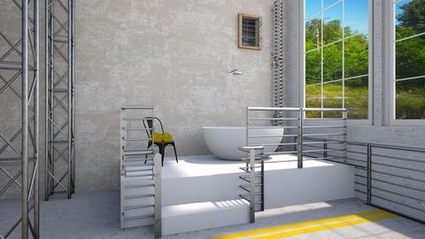 industrial bathroom - Bathroom  - by Tulipz
