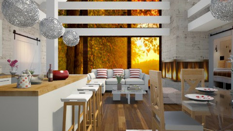 Barn Retreat - Modern - Living room  - by channing4