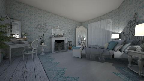 blue - Vintage - Bedroom  - by kla