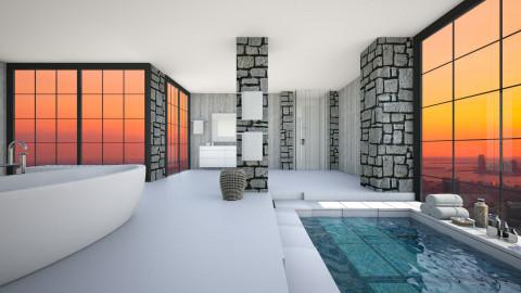 Bath with a view - Modern - Bathroom  - by nyc17