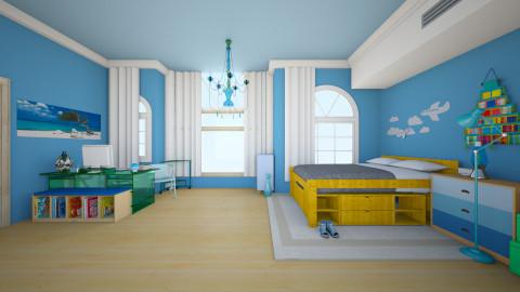Good Night Blue Light  - Classic - Bedroom  - by piyatida