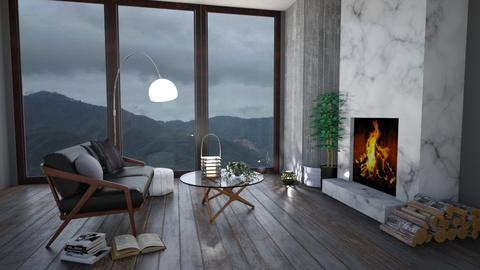 Rainy Modern Living - Modern - Living room - by doveskyler