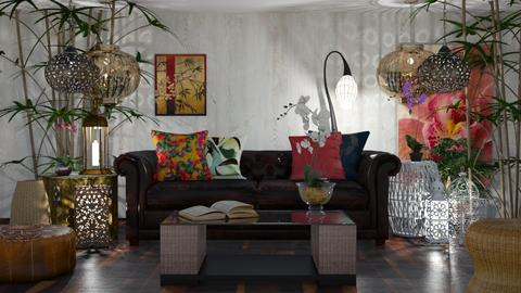 My boho spot - Eclectic - Living room  - by LuzMa HL