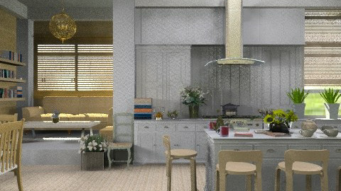 White Kitchen.  - Country - Kitchen  - by Your well wisher