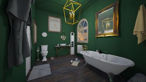 Green Bath - Bathroom  - by mmmocatta23
