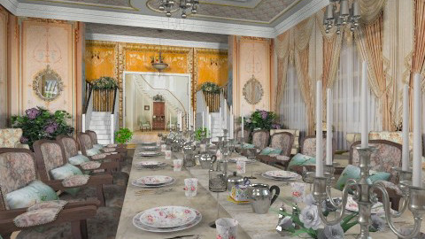 Royal Wedding - Classic - Dining room  - by Bibiche