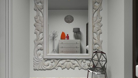 Red and White - Modern - Bedroom - by vanessa_designs