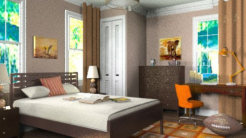 Argyl house teen boys room - Classic - Bedroom  - by alleypea
