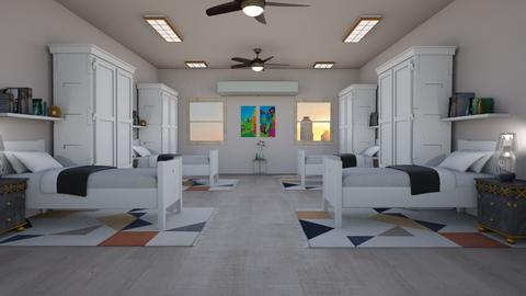 Hostel Room - Modern - Bedroom  - by khinphyucinhtet