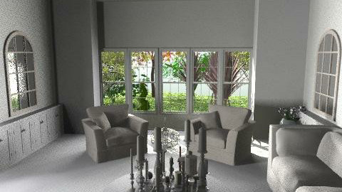 TheWhiteRoom.4 - Glamour - Living room  - by camilla_saurus