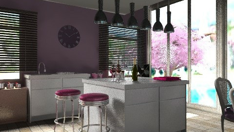 My Kitchen with a view - Modern - Kitchen  - by lilme_2k