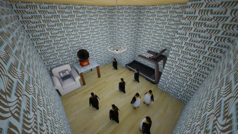 Mr Poppers penguins - Living room  - by ldertien2019