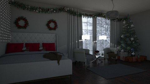 christmas bedroom - by xnussia