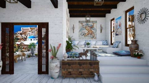 Design 79 Old Greek House - Living room - by Daisy320