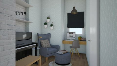 studio office - Eclectic - Office  - by sarahsego