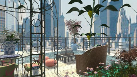 Rooftop Garden - Modern - Garden  - by PomBom