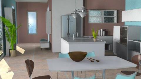 Bright Breakfast - Modern - Kitchen  - by channing4