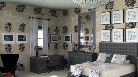 BlackHotel - Glamour - Bedroom  - by camilla_saurus