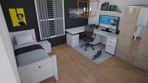 my room v1 - Bedroom  - by KheireddineLbm