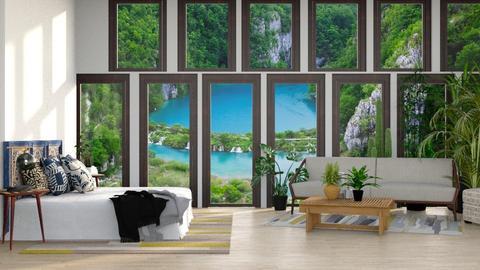 Jungle PentHouse - Modern - Living room  - by CitrusSunrise