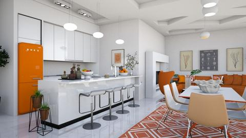 Orange  White Apartment - by matina1976
