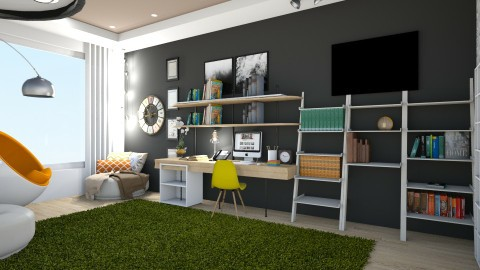 Home Office for Kelly - Modern - Office  - by Evangeline_The_Unicorn