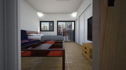 Japanese Style Small Apt2 - Living room  - by SammyJPili