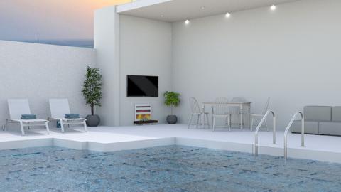 pool - Modern - by NEVERQUITDESIGNIT