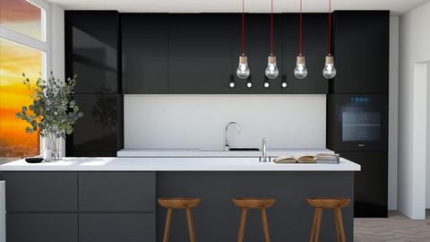 Modern And Sleek Kitchen - Kitchen  - by MilksDaBunz