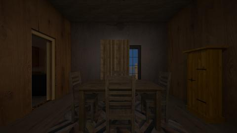 Rustic Cabin Night 03 - Dining room  - by mspence03