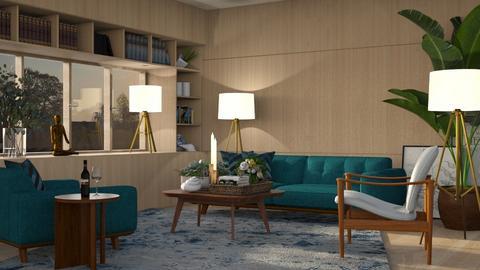 Evening - Vintage - Living room  - by Claudia Correia