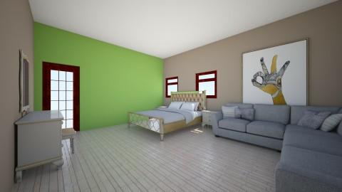 Quarto Principal de visit - Minimal - Bedroom - by KellyLis