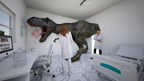 T Rex Tummy Ache - Retro - Office  - by nerogravity