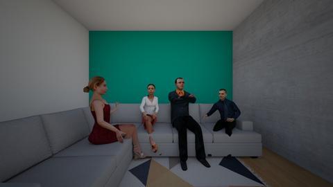 The perfect rug - Modern - Living room  - by Louisa caulton