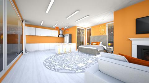 Orange and white apt - Modern - by Agamanta
