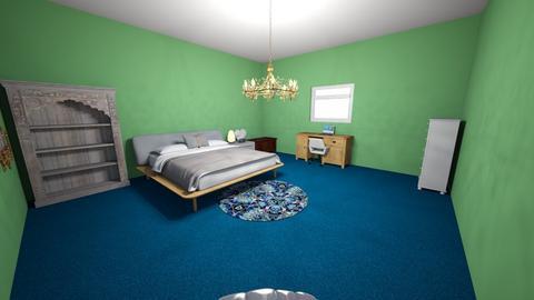 Green Blue Bedroom - Bedroom  - by Maireni B Petaluma
