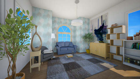 Modern blue - Living room - by Blueflamingo