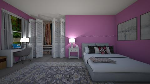 relaxing pink room - Bedroom  - by jannahoman