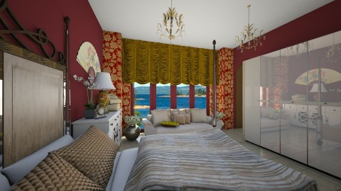Gold n Cherry - Classic - Bedroom  - by Veny Mully