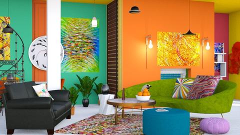 magnetic field   - Eclectic - Living room  - by elephant in savanna