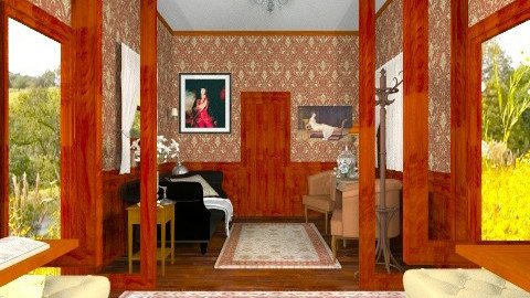 Old Fashioned Train - Vintage - Living room - by smccauley029