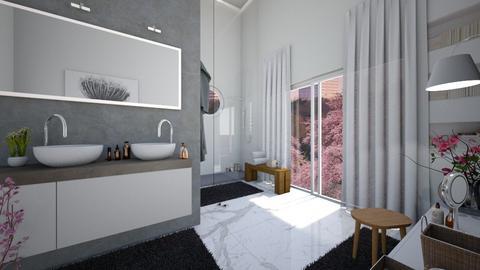 Cherry Blossom Bathroom - Bathroom  - by Galstyler