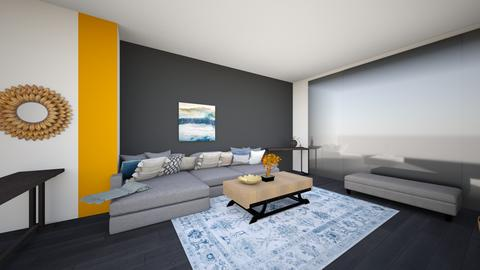livingroom greysectional6 - Living room  - by lilsrox05