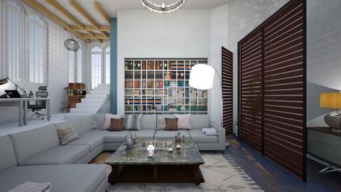 Biblioteca - Living room  - by liliescarraman10