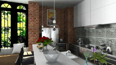 Sunny Cooking Redo - Eclectic - Kitchen - by Yaiqyn